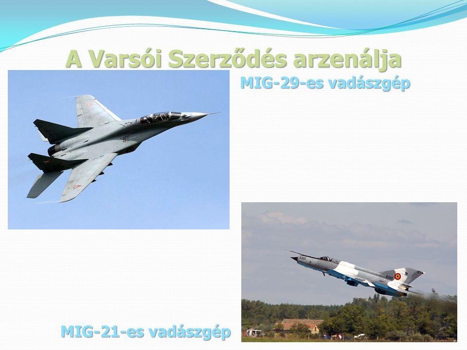 A Varsói Szerződés arzenálja MIG-29-es vadászgép MIG-21-es vadászgép
