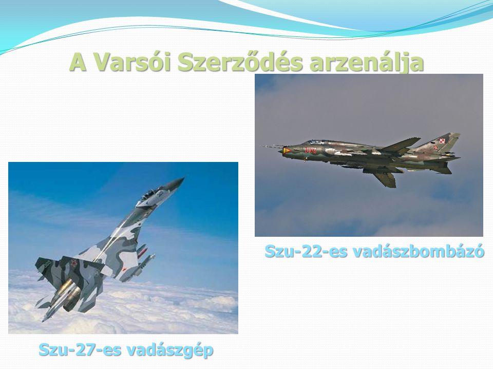 A Varsói Szerződés arzenálja Szu-22-es vadászbombázó Szu-27-es vadászgép
