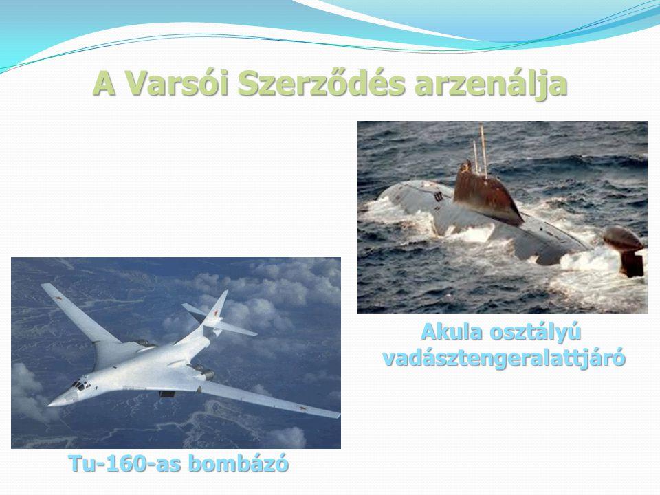 A Varsói Szerződés arzenálja Tu-160-as bombázó Akula osztályú vadásztengeralattjáró