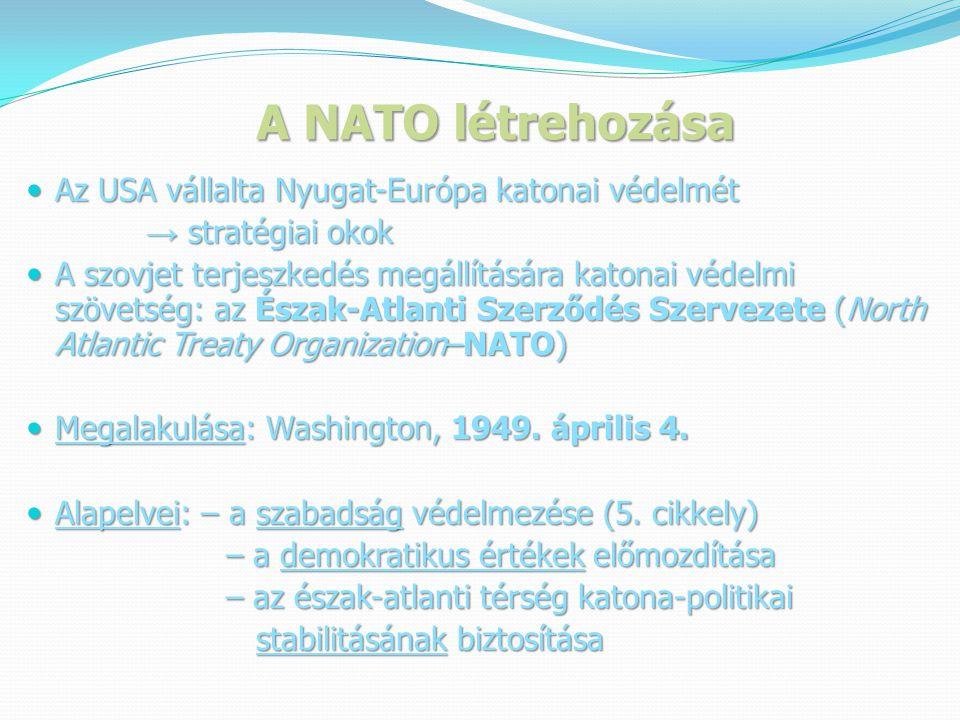 A NATO létrehozása Truman elnök beszéde a NATO megalapításakor