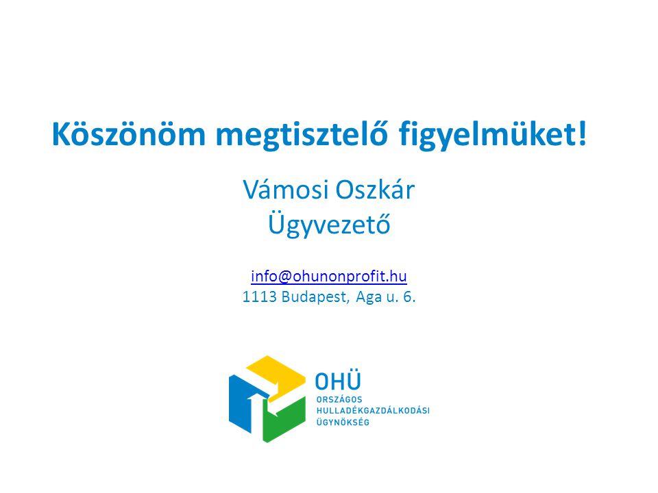 Mintacím szerkesztése Köszönöm megtisztelő figyelmüket! Vámosi Oszkár Ügyvezető info@ohunonprofit.hu 1113 Budapest, Aga u. 6.