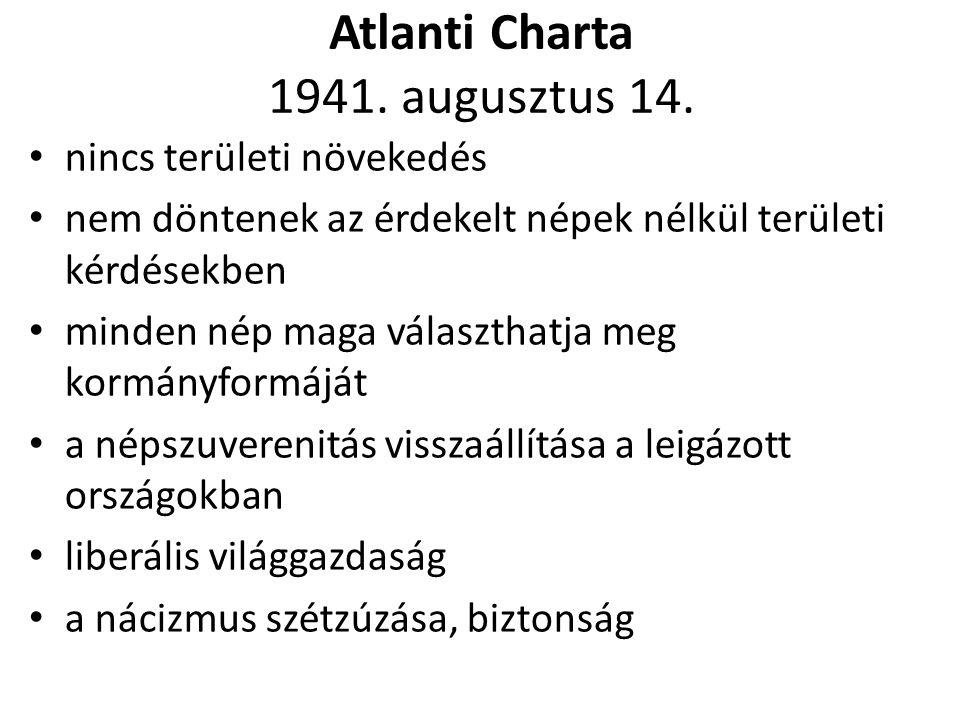 Atlanti Charta 1941.augusztus 14.