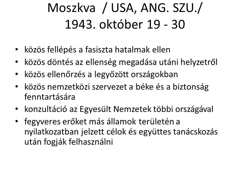 Moszkva / USA, ANG.SZU./ 1943.