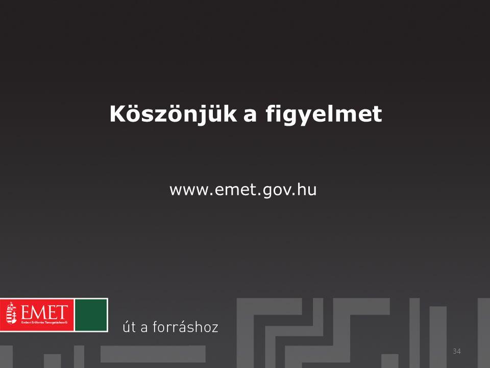 Köszönjük a figyelmet 34 www.emet.gov.hu