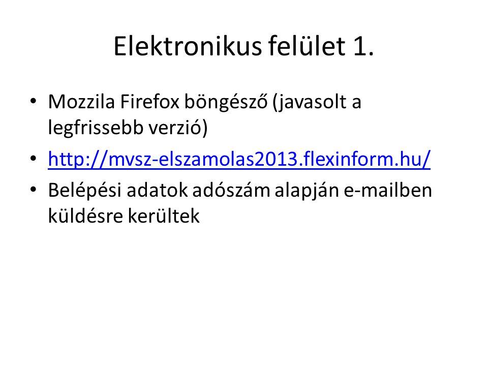 Elektronikus felület 1.