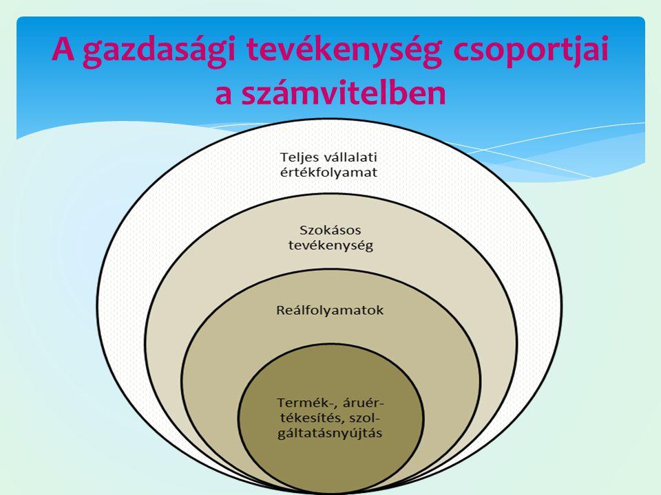 A gazdasági tevékenység csoportjai a számvitelben