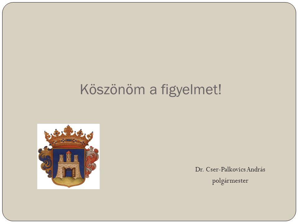Köszönöm a figyelmet! Dr. Cser-Palkovics András polgármester