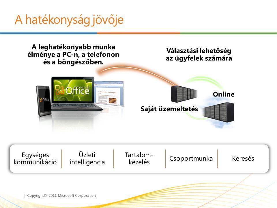 | Copyright© 2011 Microsoft Corporation A hatékonyság jövője