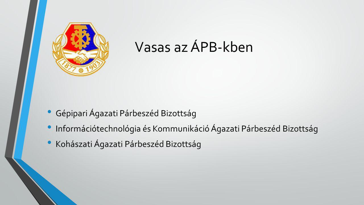 Vasas az ÁPB-kben • Gépipari Ágazati Párbeszéd Bizottság • Információtechnológia és Kommunikáció Ágazati Párbeszéd Bizottság • Kohászati Ágazati Párbe