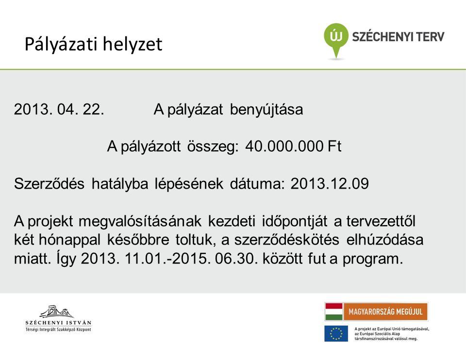 Pályázati helyzet 2013. 04.