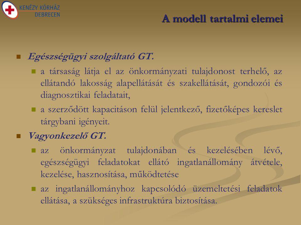 A modell tartalmi elemei   Egészségügyi szolgáltató GT.