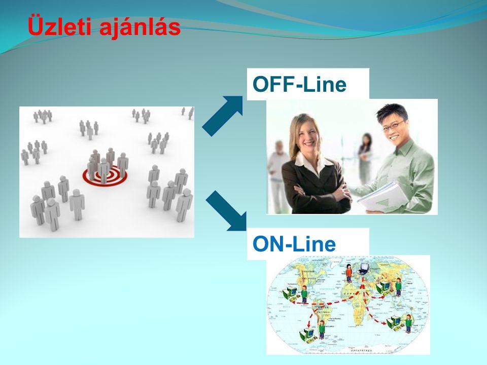 Üzleti ajánlás OFF-Line ON-Line,