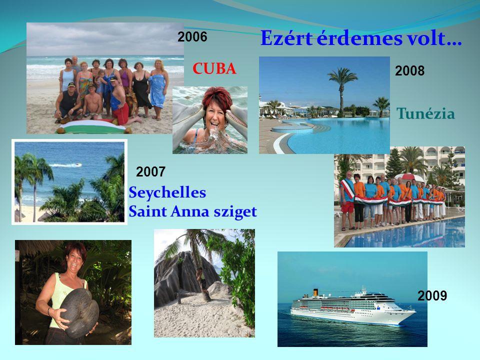 CUBA Seychelles Saint Anna sziget Tunézia Ezért érdemes volt… 2006 2007 2009 2008