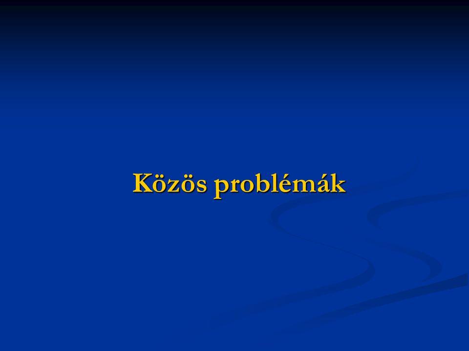 Közös problémák