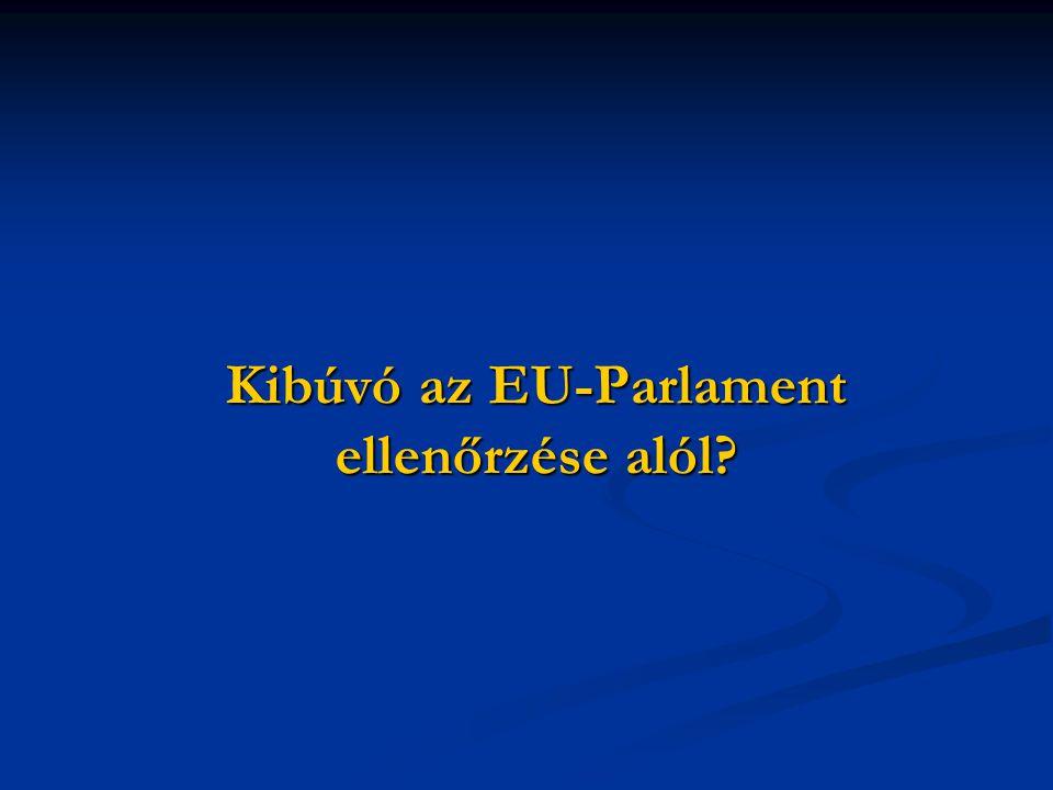 Kibúvó az EU-Parlament ellenőrzése alól
