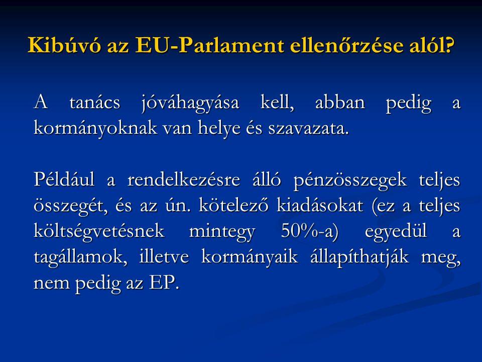 Kibúvó az EU-Parlament ellenőrzése alól.
