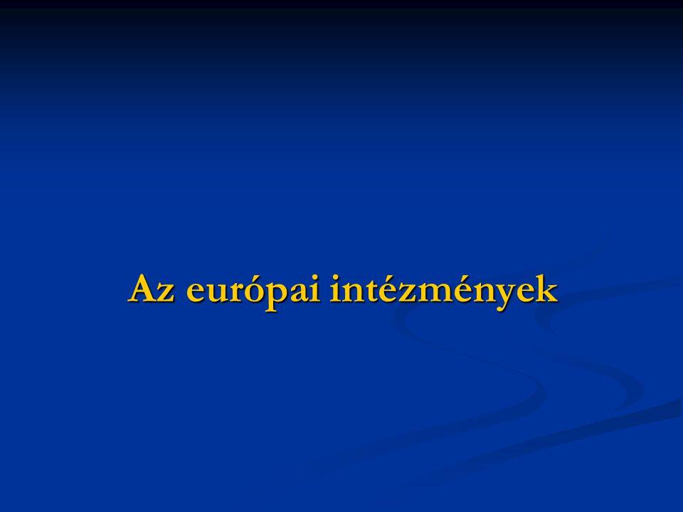 Az európai intézmények
