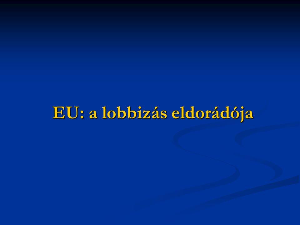 EU: a lobbizás eldorádója