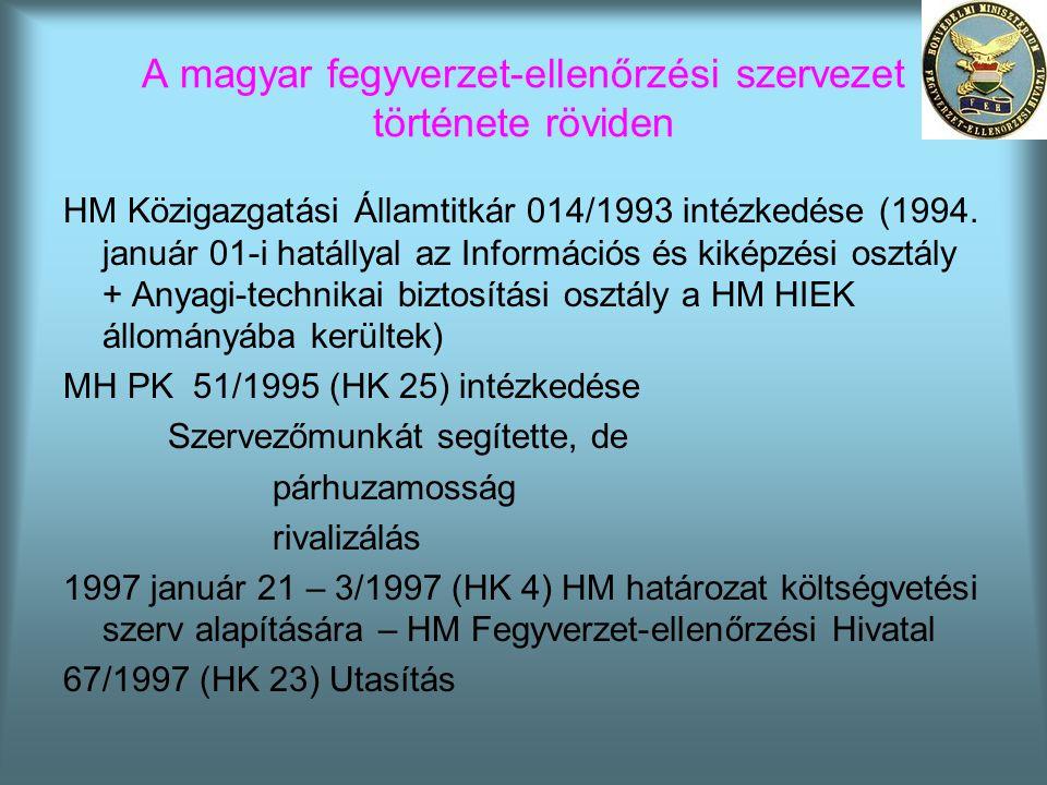HM Közigazgatási Államtitkár 014/1993 intézkedése (1994. január 01-i hatállyal az Információs és kiképzési osztály + Anyagi-technikai biztosítási oszt
