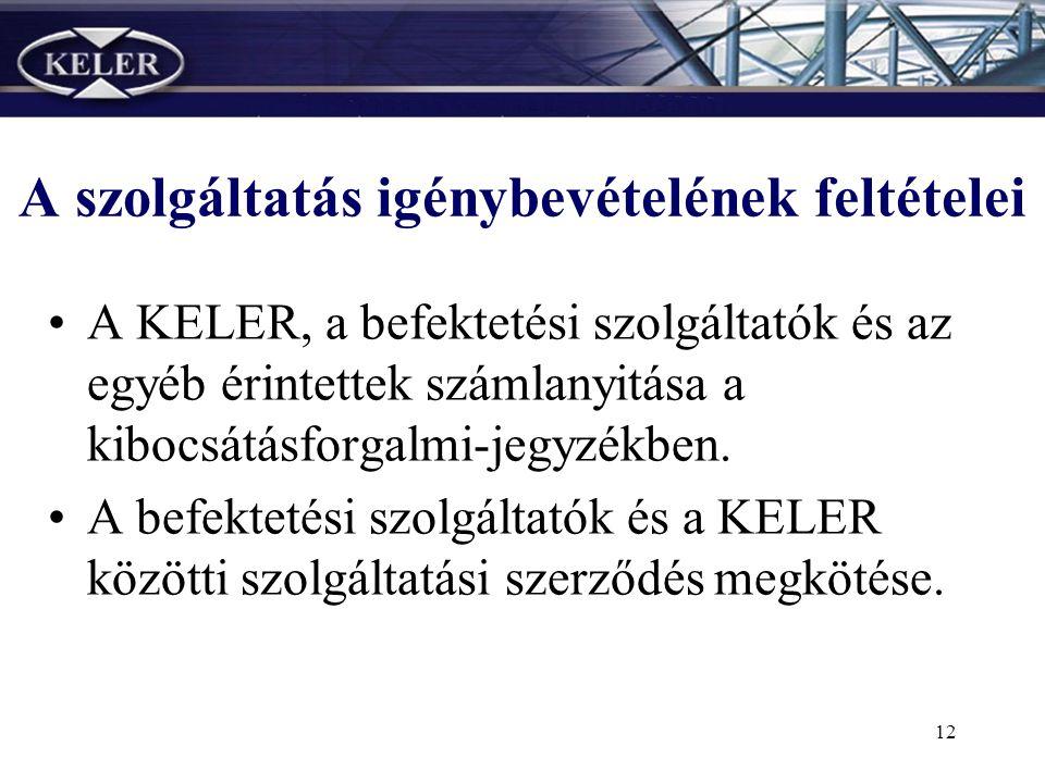 11 •Várható a termék későbbi tőzsdei bevezetése; a tőzsdei ügyletek elszámolását a KELER végzi.