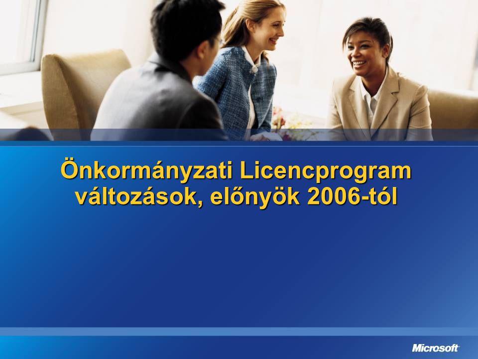 Önkormányzati Licencprogram változások, előnyök 2006-tól