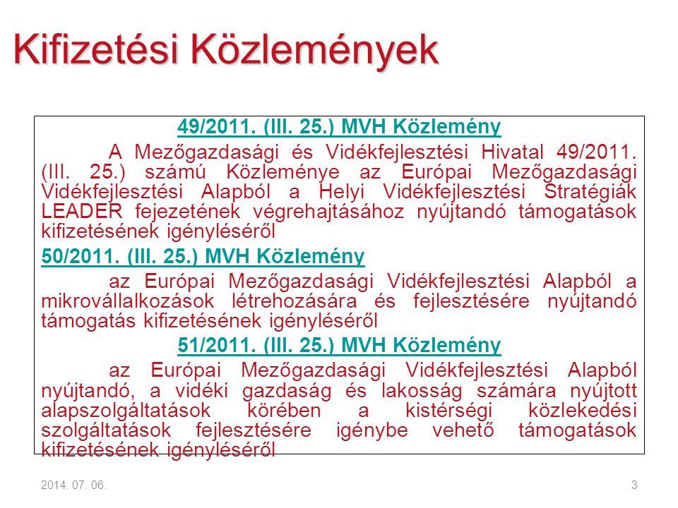 4 Kifizetési Közlemények 55/2011.(III.