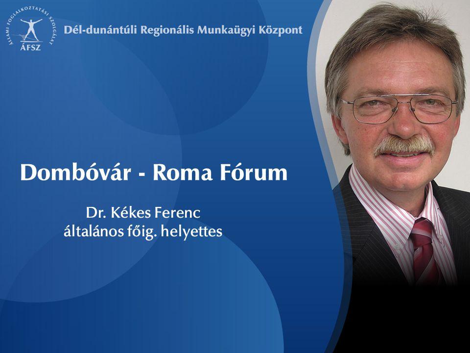 Dr. Kékes Ferenc általános főig. helyettes Dombóvár - Roma Fórum