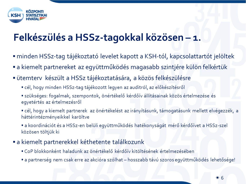 Felkészülés a HSSz-tagokkal közösen – 1.