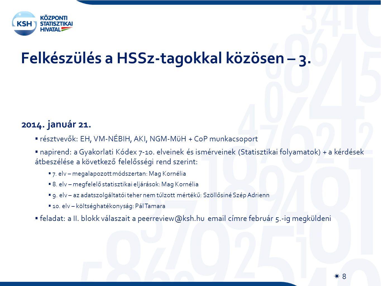Felkészülés a HSSz-tagokkal közösen – 3.  8 2014.