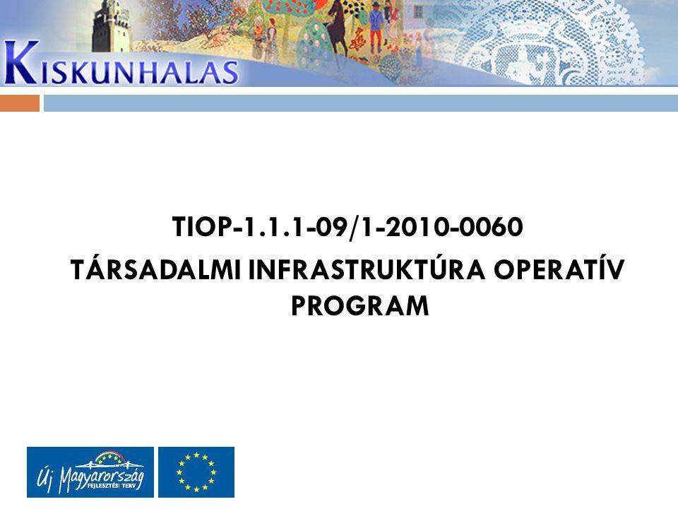 TIOP-1.1.1-09/1-2010-0060 TÁRSADALMI INFRASTRUKTÚRA OPERATÍV PROGRAM