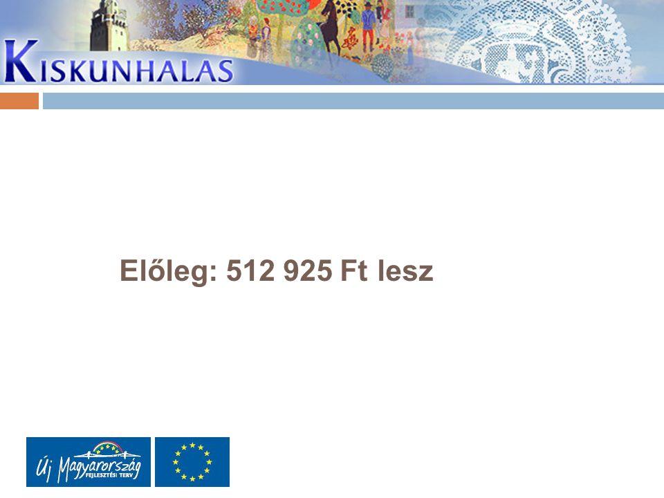 Előleg: 512 925 Ft lesz