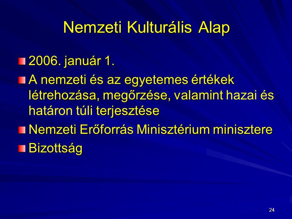 24 Nemzeti Kulturális Alap 2006.január 1.