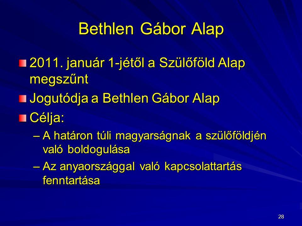28 Bethlen Gábor Alap 2011.