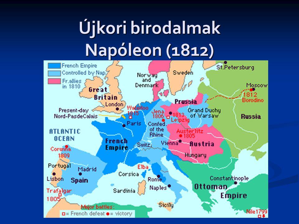 Újkori birodalmak Napóleon (1812)