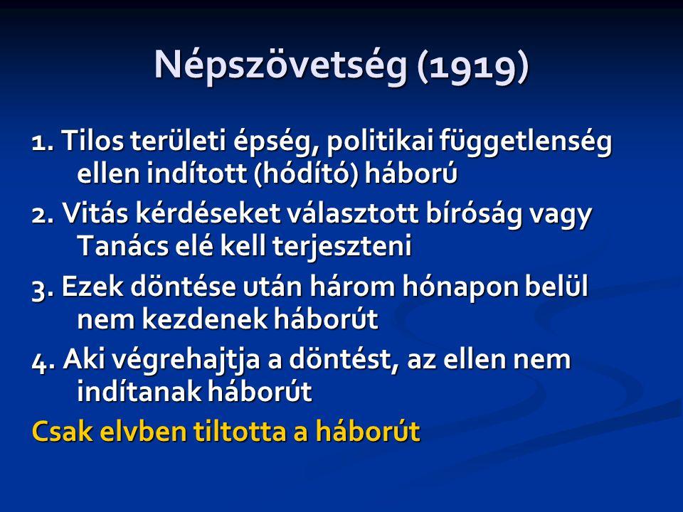 Népszövetség (1919) 1.