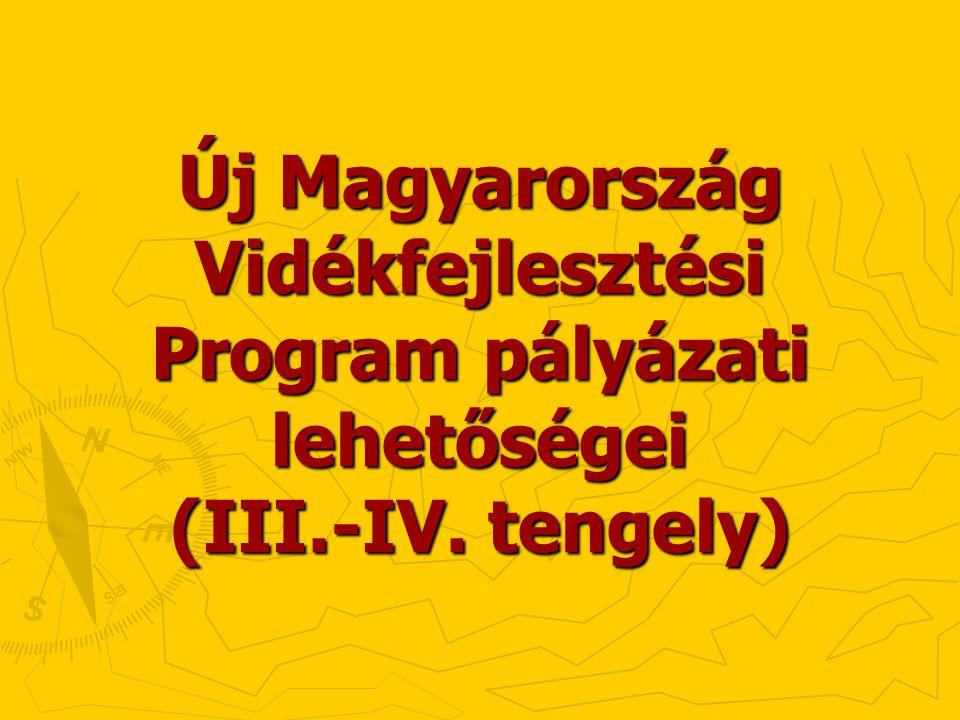 Új Magyarország Vidékfejlesztési Program pályázati lehetőségei (III.-IV. tengely)