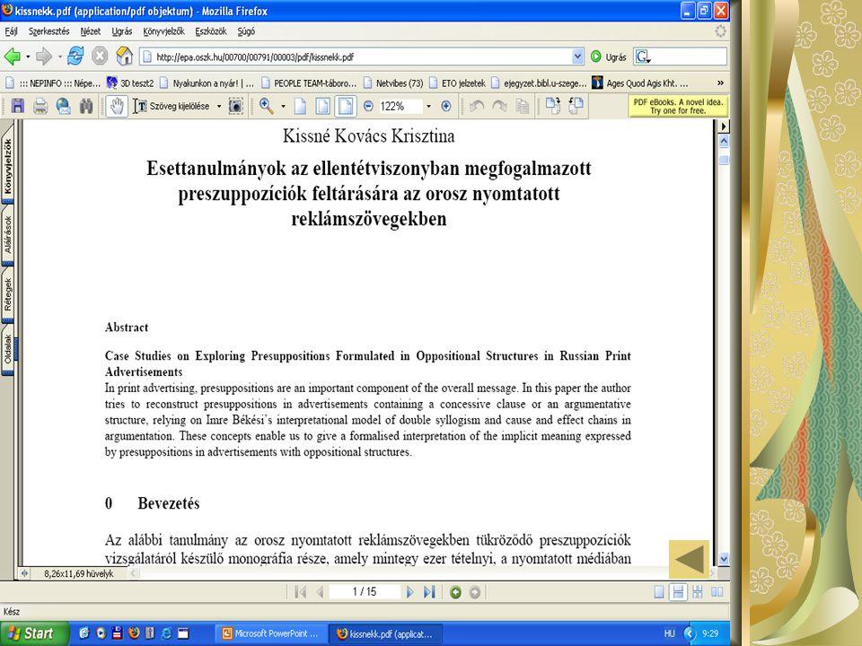 Összetett keresés az EPA-katalógus a kiadványok adatait leíró adatbázis összetett keresője max.