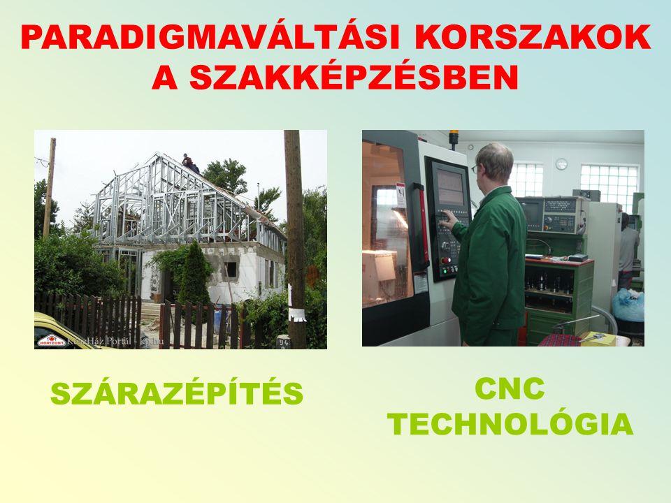 PARADIGMAVÁLTÁSI KORSZAKOK A SZAKKÉPZÉSBEN SZÁRAZÉPÍTÉS CNC TECHNOLÓGIA