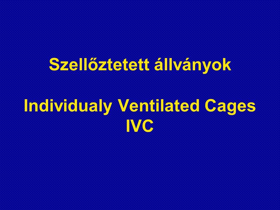 IVC-k működési elve •A készülék szűrőfedeles u.n.
