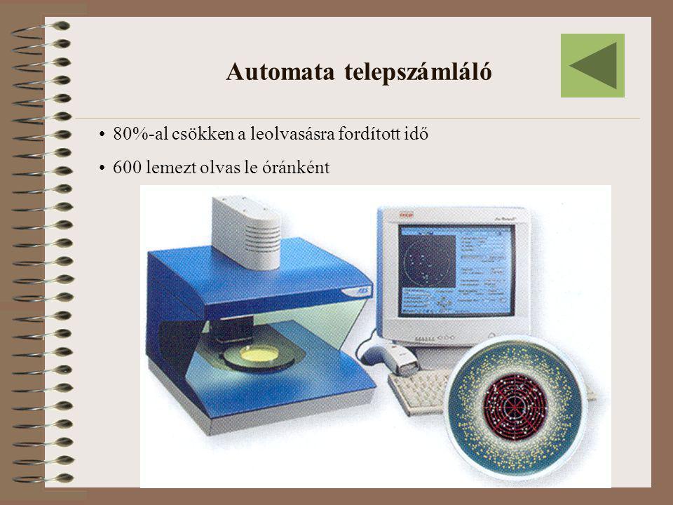Automata telepszámláló •80%-al csökken a leolvasásra fordított idő •600 lemezt olvas le óránként