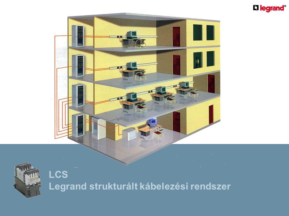 MUNKAÁLLOMÁS SZINTELOSZTÓ LCS Legrand strukturált kábelezési rendszer