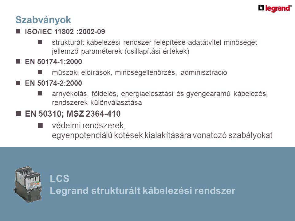 Optikai kötéstartó kazetta: LCS Legrand strukturált kábelezési rendszer