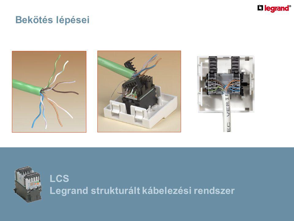 Bekötés lépései LCS Legrand strukturált kábelezési rendszer