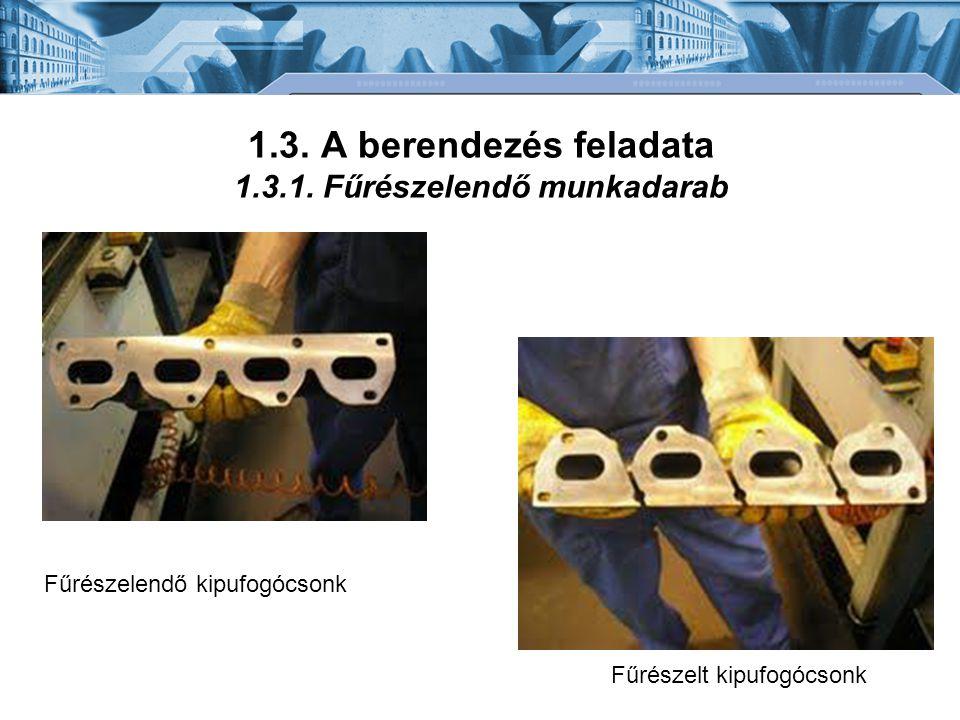 1.3. A berendezés feladata 1.3.1. Fűrészelendő munkadarab Fűrészelendő kipufogócsonk Fűrészelt kipufogócsonk