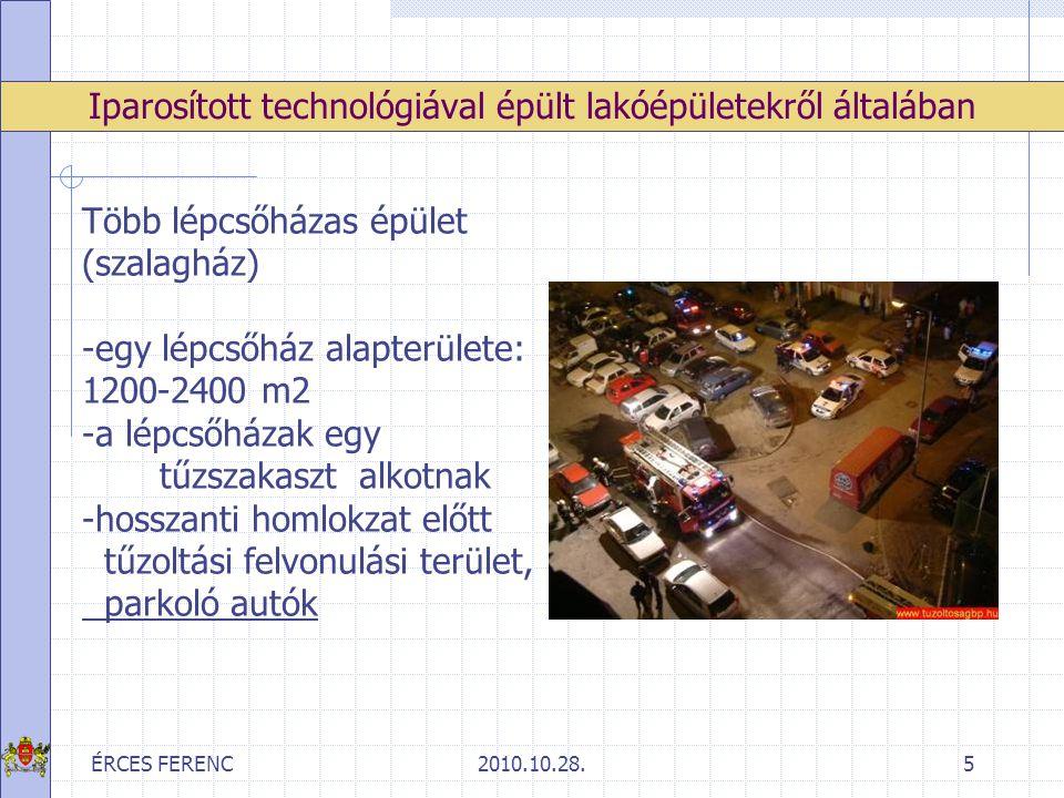 ÉRCES FERENC2010.10.28.6 -faszerkezetű lakásajtók (általában nem rendelkeznek tűzvédelmi minősítéssel) Iparosított technológiával épült lakóépületekről általában