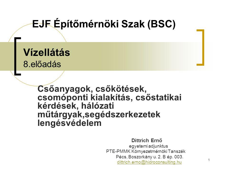 42 Felhasznált irodalom  György István (szerk): Vízügyi létesítmények kézikönyve.
