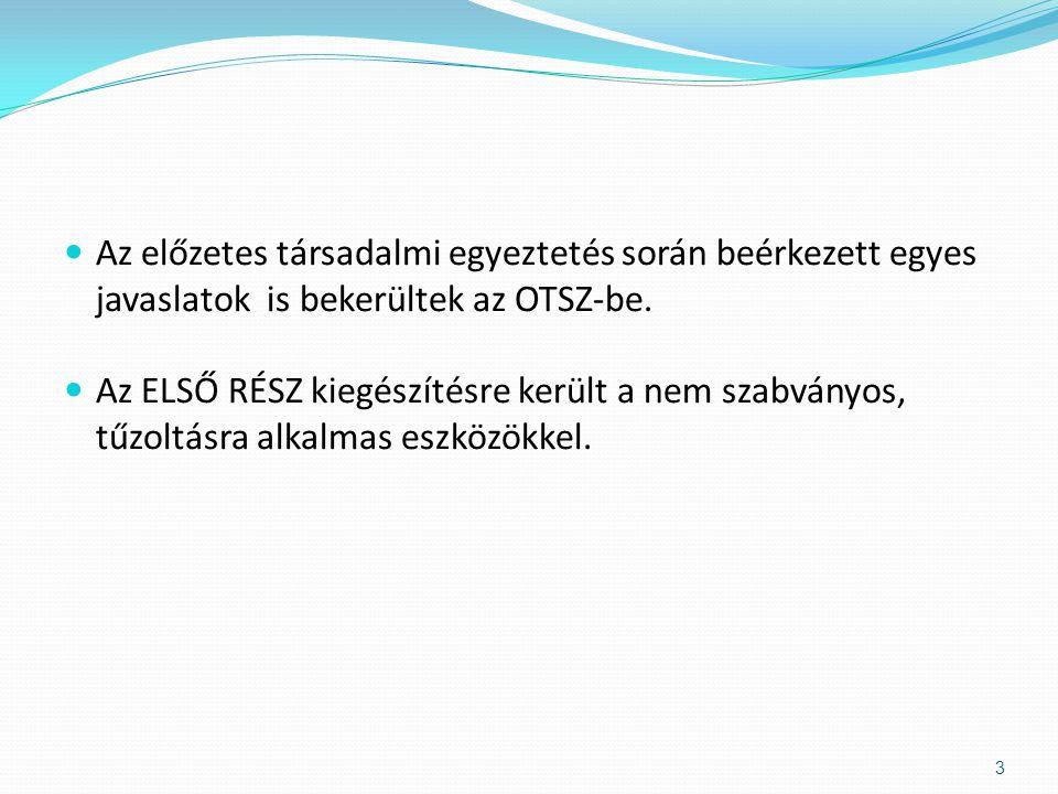  EU szabályzás nincs, magyar előszabvány az MSZE 1025.