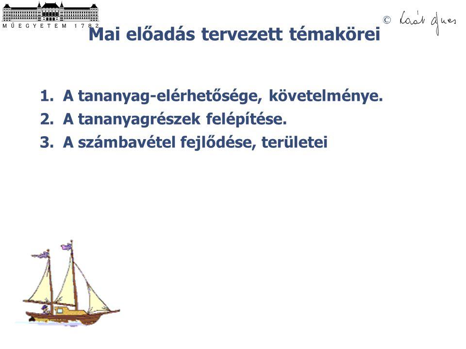 © A SZÁMBAVÉTEL TERÜLETEI MÉRLEG- ÉS EREDMÉNYKÉSZÍTÉS EGYSZERES KÖNYVVITEL NAPLÓ SZÁMLA ÖSSZESÍTŐ KIMUTATÁSOK KETTŐS KÖNYVVITEL LELTÁR KÖLTSÉG- ÉS ÖNKÖLTSÉG SZÁMÍTÁS SZÁMLAELMÉLETEK ELEMZÉS ÁRKALKULÁCIÓ INFORMÁCIÓINFORMÁCIÓ BIZONYLATOK INFORMÁCIÓINFORMÁCIÓ