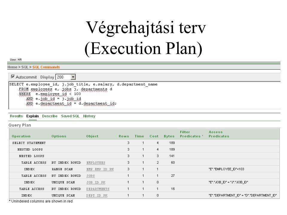 Végrehajtási terv (Execution Plan)