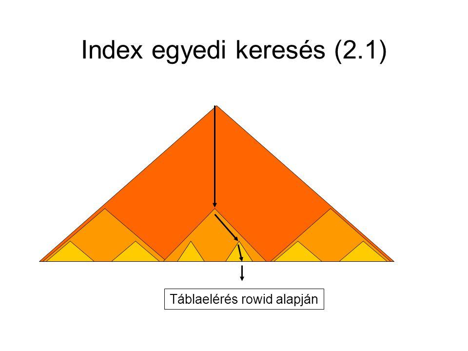 Index egyedi keresés (2.1) Táblaelérés rowid alapján